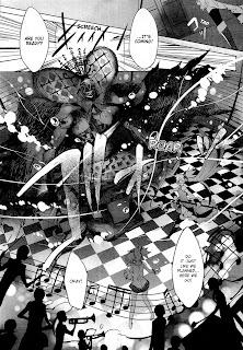 Action scene from the manga Puella Magi Madoka Magica