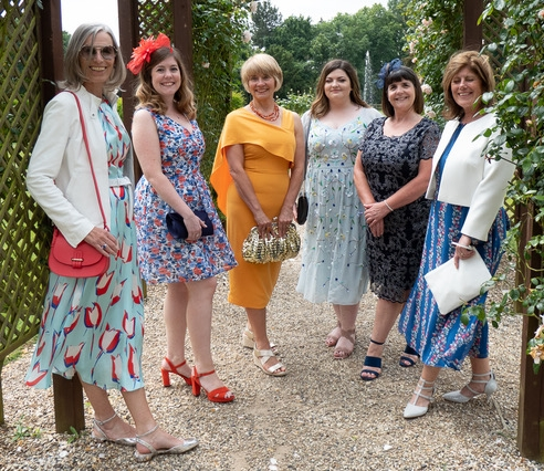 Women in their 20s, 30s, 50s and 60s at a wedding in Herts, UK, in June 2018