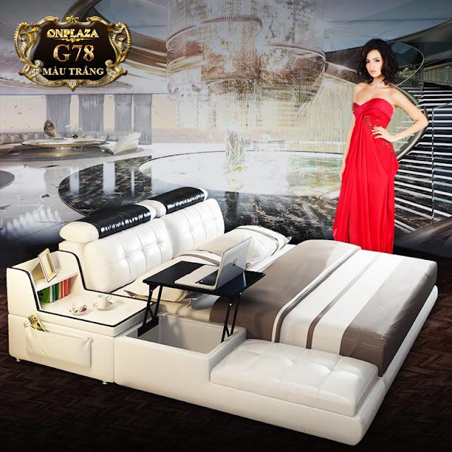 Giường ngủ đa năng nhập khẩu với thiết kế hiện đại,sang trọng.