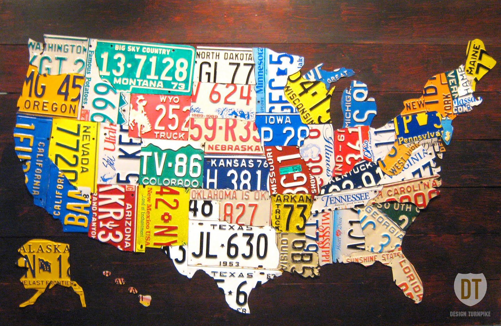 """the tin snip times now selling 60"""" license plate map of"""