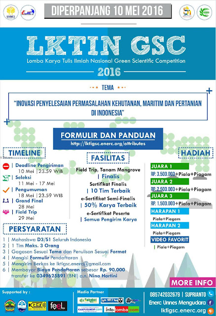 LKTIN Green Scientific Competition UNNES 2016