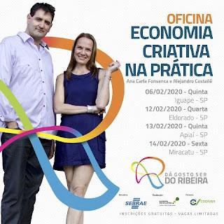 """Oficina de Economia Criativa promove o projeto """"Dá gosto Ser do Ribeira"""" e está com inscrições abertas"""