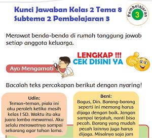 Kunci Jawaban Kelas 2 Tema 8 Subtema 2 Pembelajaran 3 www.simplenews.me