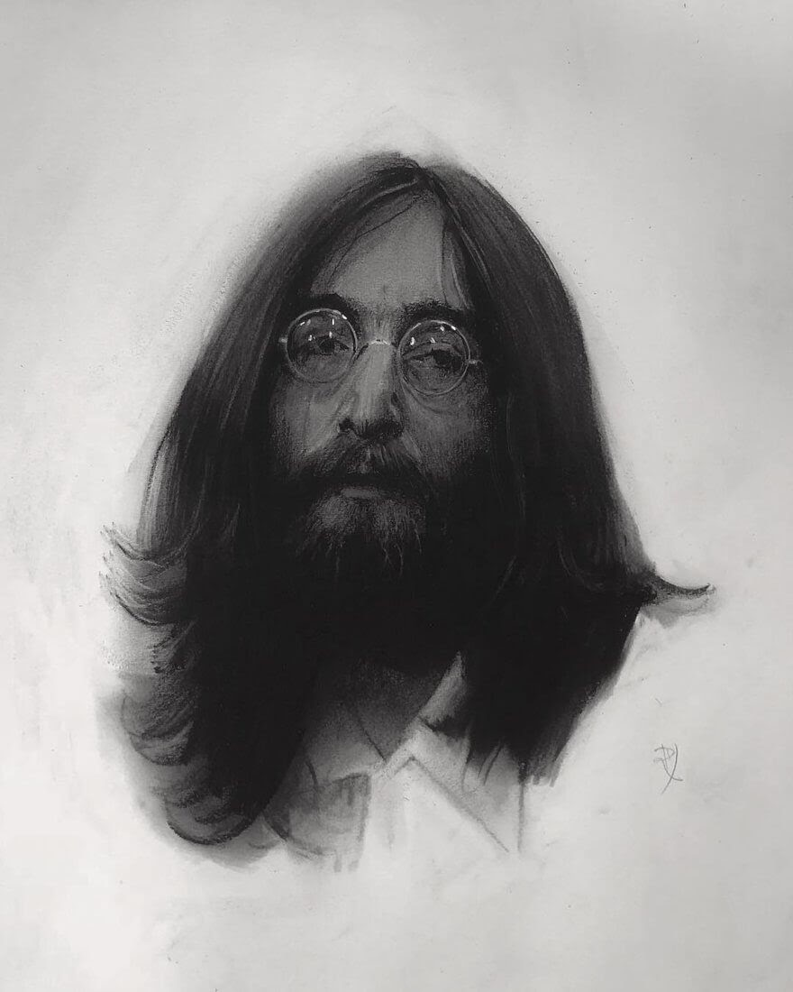 05-John-Lennon-The-Beatles-Rick-Young-Celebrity-and-More-Charcoal-Portraits-www-designstack-co
