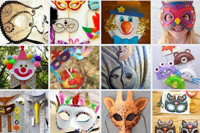 50 Κατασκευές για χάρτινες αποκριάτικες μάσκες