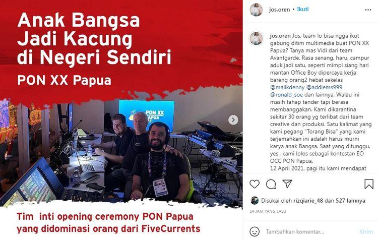 Kecewa Tim Inti Ceremony PON Papua 2021 Didominasi Orang Asing, Jos Oren: Aku Hanya Jongos, Tapi Bukan Kacung!
