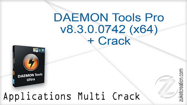 DAEMON Tools Pro v8.3.0.0742 (x64) + Crack |  36.1 MB