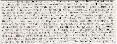 Extracto del artículo en Ajedrez Español sobre la vuelta del I Campeonato de España por Equipos 1956