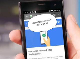 antisipasi untuk mengamankan ponsel