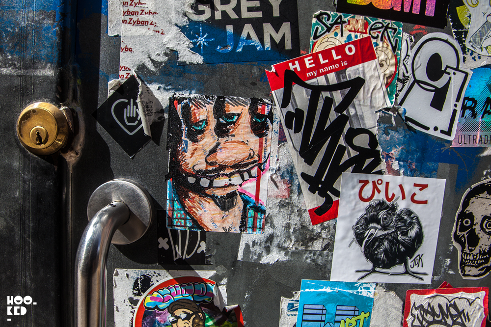 Photo of New York Street Artist City Kitty Stickers in London