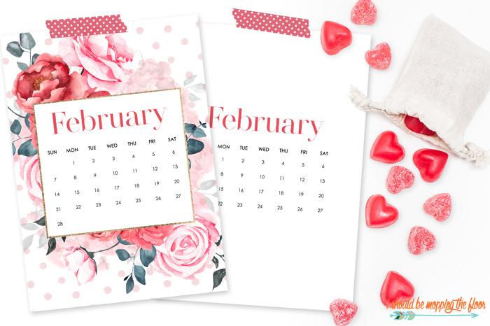 Free February Printable Calendar