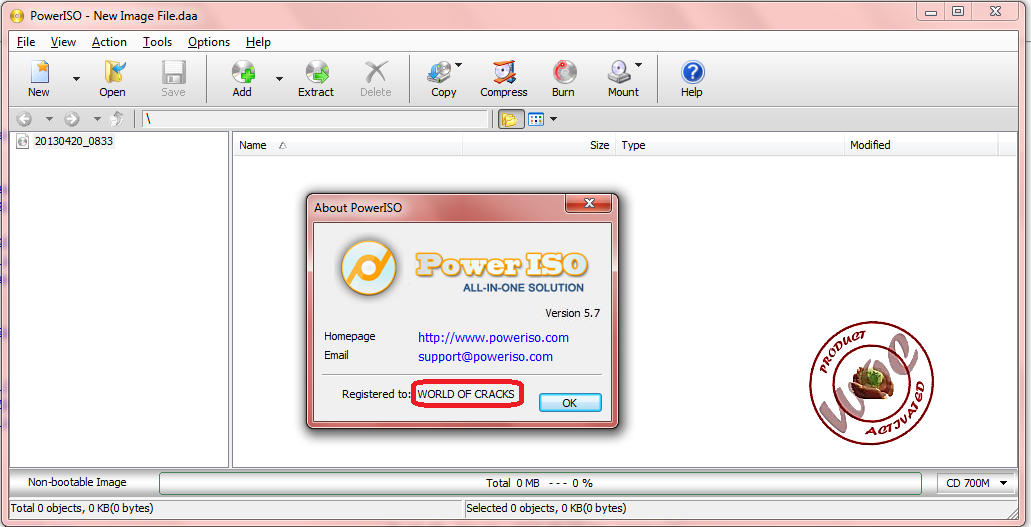 Power ISO 3.7 full version