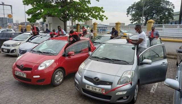 Takoradi online drivers embark on 2-day strike