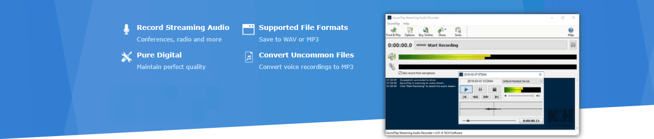 SoundTap Streaming Audio Recorder Software Registration Code
