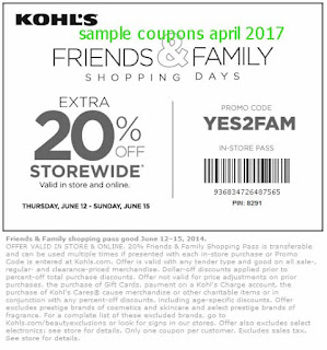 Kohls coupons april