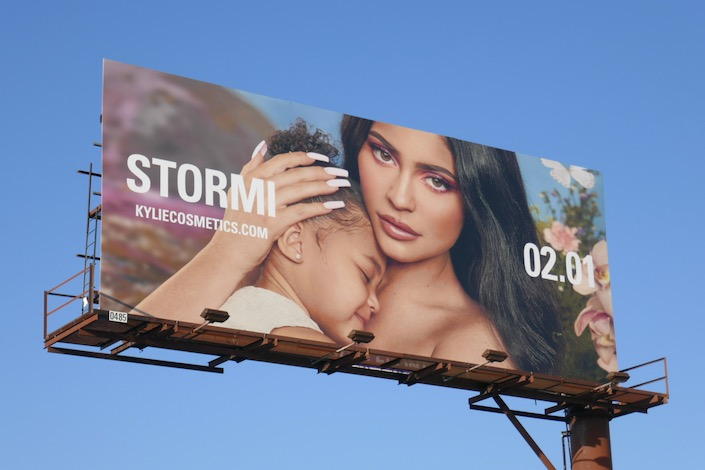 Stormi Collection Kylie Cosmetics 2020 billboard