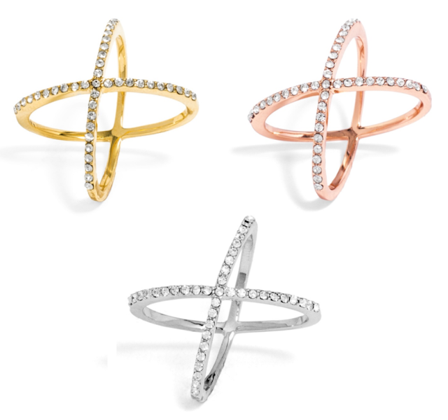 BaubleBar: Crystal Mason Rings only $10 (reg $32) + free shipping!