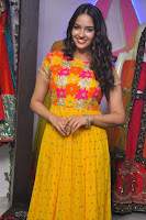 Pujitha in Yellow Ethnic Salawr Suit Stunning Beauty Darshakudu Movie actress Pujitha at a saree store Launch ~ Celebrities Galleries 016.jpg