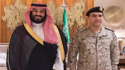 محمد بن سلمان وقائد القوات الجوية