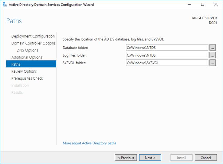 تثبيت Active Directory على Windows Server 2016