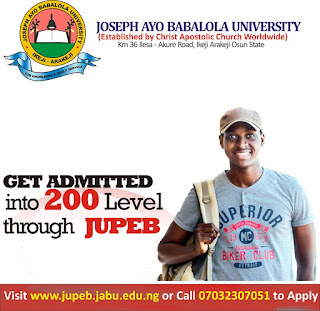 Joseph Ayo Babalola University JUPEB Admission Form 2020/2021