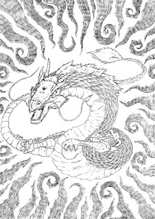 Dessin d'un dragon oriental
