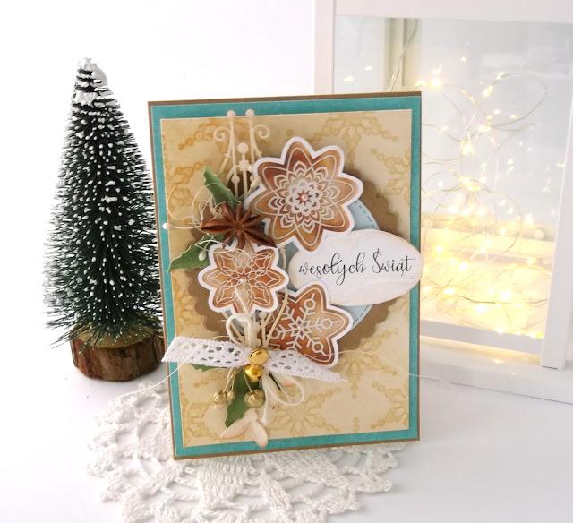 Ciastkowa kartka świąteczna