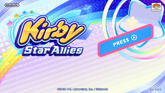 Kirby Star Allies title screen version 4.0.0