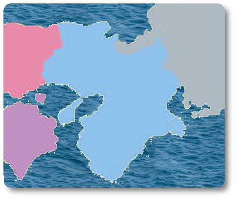 関西方面 地図 イラスト 関西の船釣りで釣れる 竿とリール