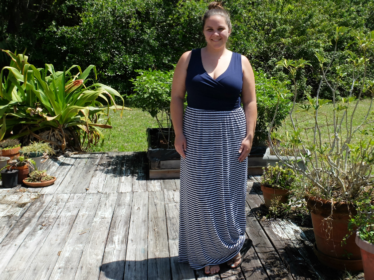 Sweet Turtle Soup - Stitch Fix Review #1 :: Sebsatian Maxi Dress by Gilli