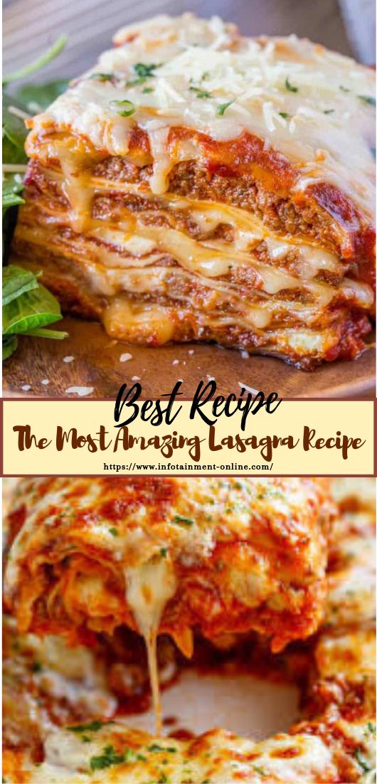 The Most Amazing Lasagna Recipe #dinnerrecipe #food #amazingrecipe #easyrecipe