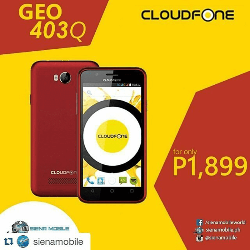 CloudFone Geo 403Q Announced! Quad Core For 1899 Pesos!
