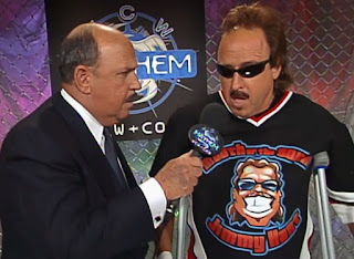 WCW Mayhem 2000 - Mean Gene Okerlund interviews Jimmy Hart about his match with Mancow