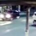 Imperícia de taxista provoca colisão com moto pilotada por agente penitenciário de Fortaleza