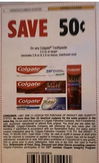 """$0.50/1 Colgate Toothpaste 3.0 Oz+ Coupon from """"SMARTSOURCE"""" insert week of 3/1/20."""