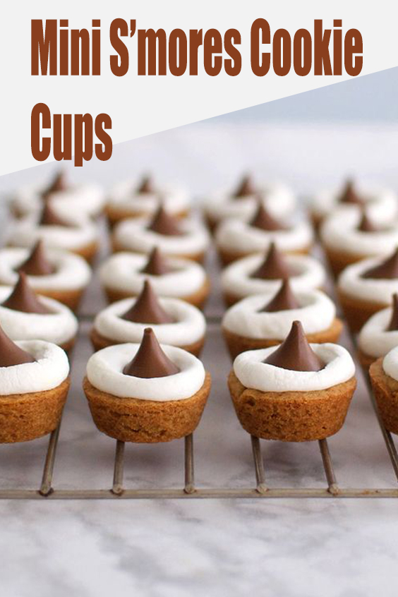 Mini S'mores Cookie Cups