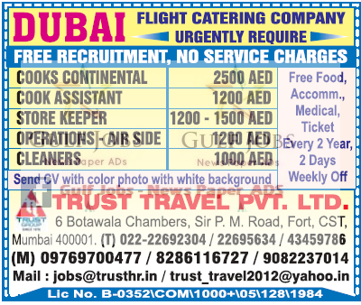 Flight Catering Co JObs For Dubai Free Recruitment Gulf Jobs For Malayalees