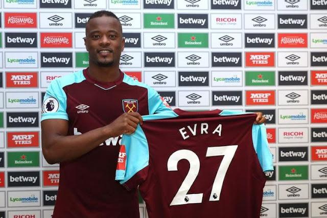 Patrice Evra diperkenalkan sebagai pemain baru West Ham United
