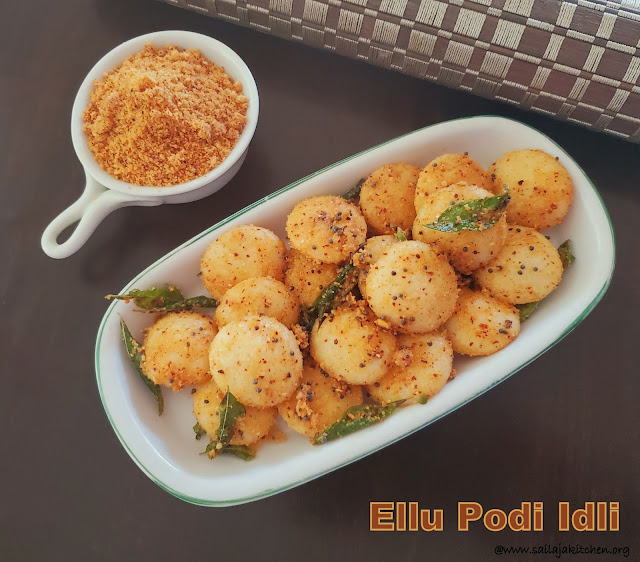 images of Thirunelveli Style Idly Podi / Ellu Idly Podi / Ellu Idli Milagai Podi / Sesame Seeds Gun powder