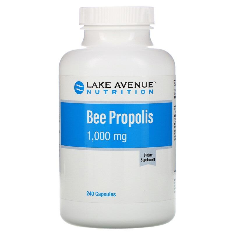 Lake Avenue Nutrition, Прополис, экстракт 5:1, эквивалент 1000 мг, 240 растительных капсул