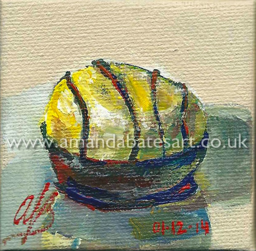 Thornton's Premium Vanilla Velvet, still life painting in acrylic on diddy canvas