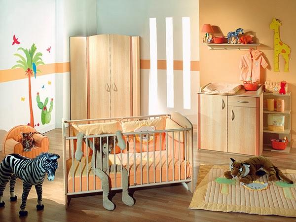 diseño dormitorio salmón bebé