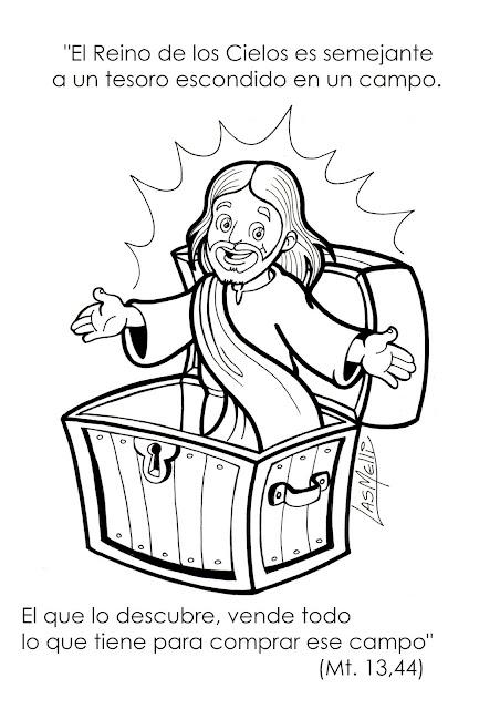 DIBUJO: El Reino de los Cielos es como un tesoro...