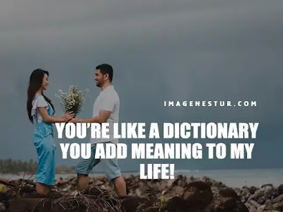 Love Captions-You're like a dictionary you add meaning to my life!