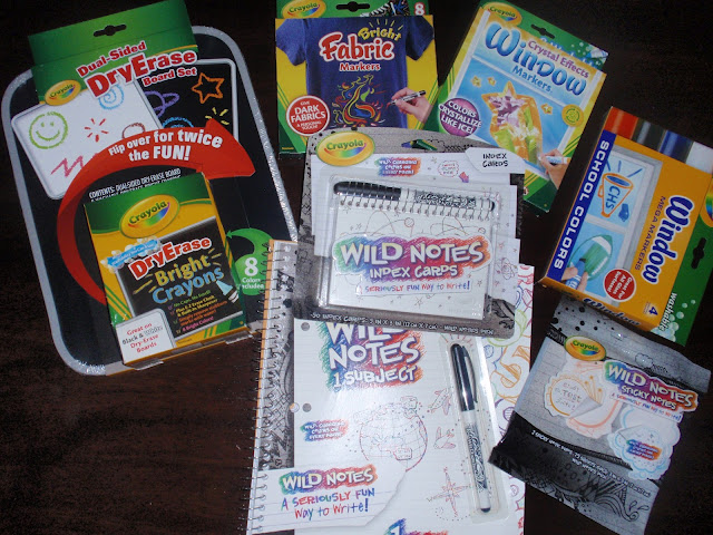 school supplies, wild notes, dry erase, markers, window markers