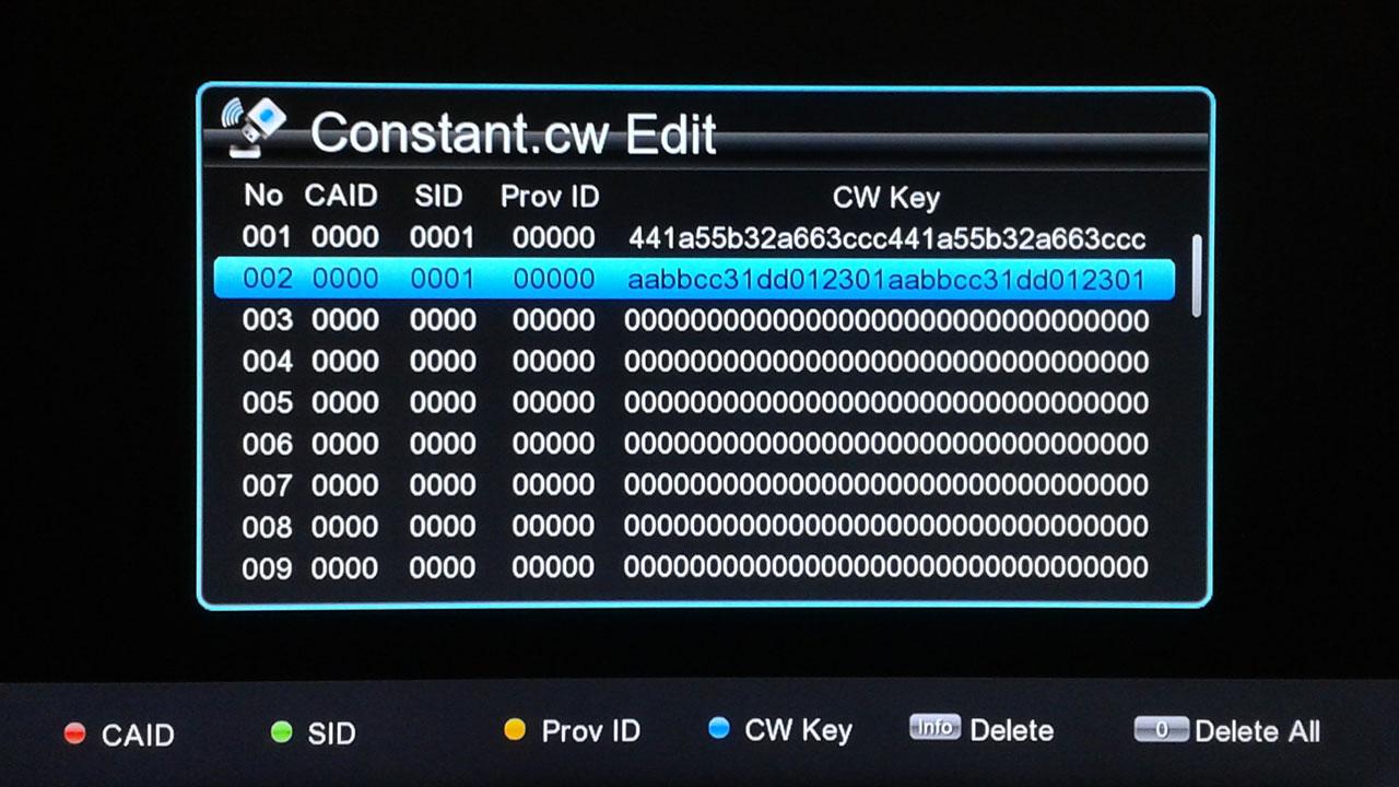 cara input biss key receiver getmecom hd 5 Guoxin