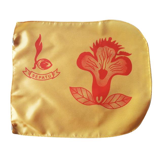bendera regu pramuka bunga sepatu