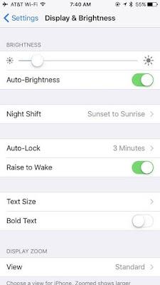 Hidupkan Auto-Brightness iPhone