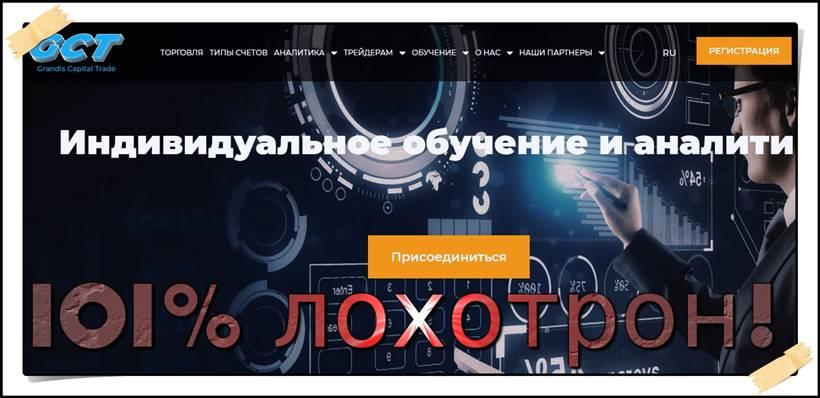 Мошеннический сайт grandis-capital-trade.com – Отзывы? Grandis Capital Trade Мошенники!