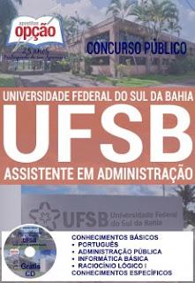 Apostila concurso UFSB Sul da Bahia 2016, Assistente em Administração.